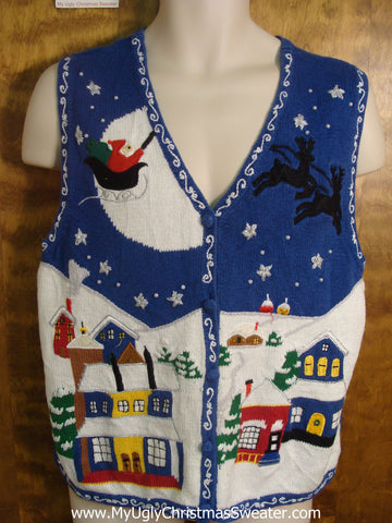Christmas Night Funny Christmas Sweater Vest
