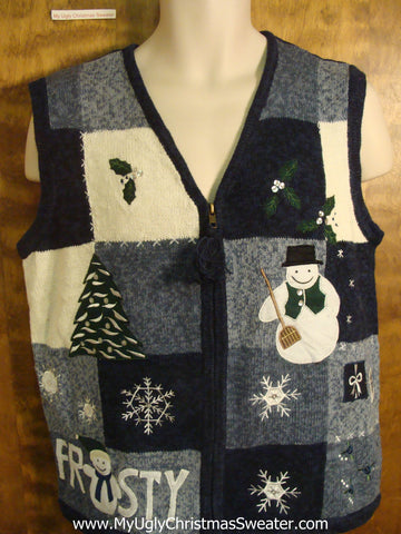 Frosty the Snowman Ugly Christmas Sweater Vest