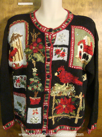 80s Rockin' Robin Ugly Christmas Sweater