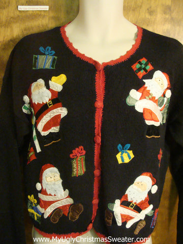 Santas and Presents Galore Ugly Christmas Sweater