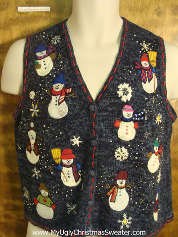All Kinds of Snowmen Ugly Christmas Sweater Vest