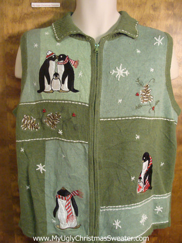 Penguin Families Cheap Christmas Sweater Vest