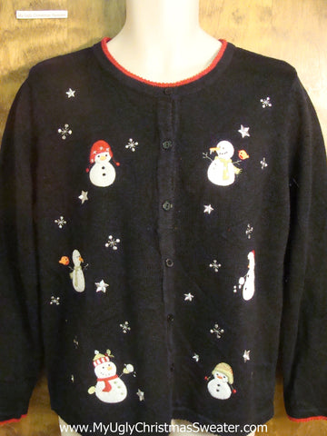Cute Jolly Snowmen Ugly Christmas Sweater