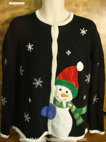 Big Winter Snowman Ugly Christmas Sweater