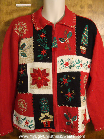 80s Holiday Greens Ugly Christmas Sweater