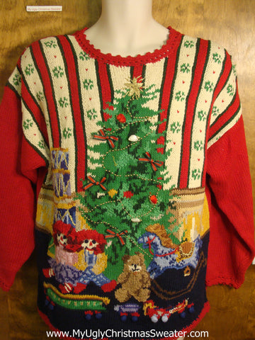 Toys Under the Tree Ugly Christmas Sweater