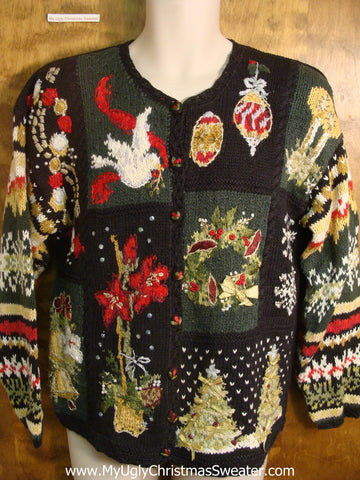 80s Holiday Decorations Ugly Christmas Sweater