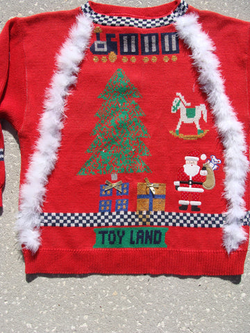 Toyland 80s Rare Ugly Christmas Sweater Pullover