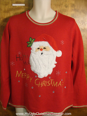 Ho Ho Ho Santa Ugly Christmas Sweater