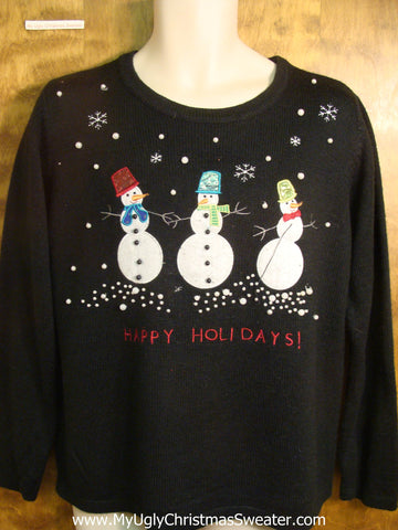 Happy Holidays! Snowmen Ugly Christmas Sweater