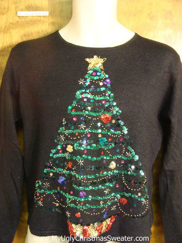 Big Bling Tree Child Size Christmas Sweater