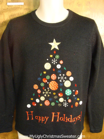 Happy Holidays! Tree Ugly Christmas Sweater