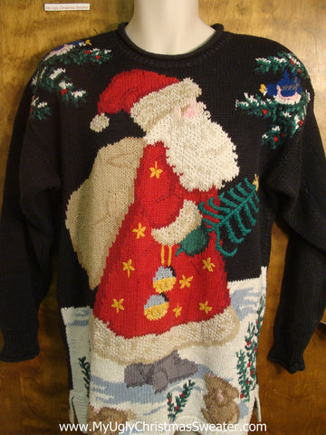 80s Santa Delivering Presents Ugly Christmas Sweater