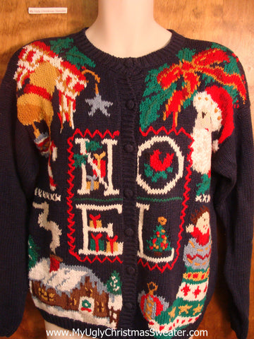 80s Noel Ugly Christmas Sweater