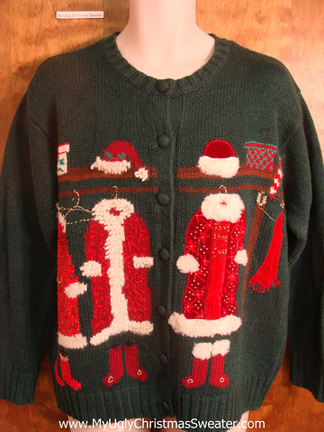Santa's Clothes Ugly Christmas Sweater