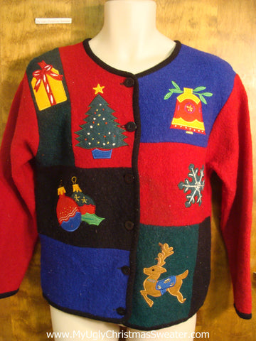 Happy Holidays Decorations Ugly Christmas Sweater