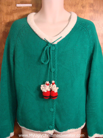 Santa Decorations Ugly Christmas Sweater
