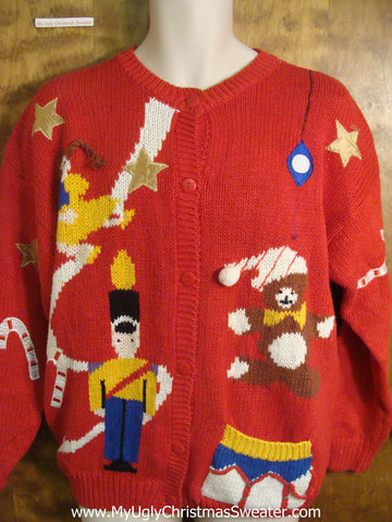 Playing Toys Ugly Christmas Sweater