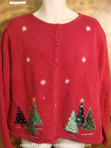 Decorated Trees Ugly Christmas Sweater