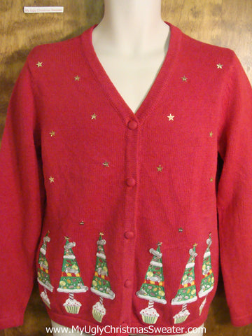 Decorated Trees Tacky Christmas Sweater