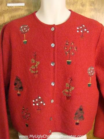 Decorated Holiday Trees Tacky Christmas Sweater