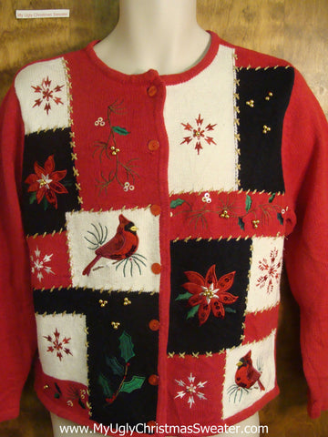 Red Robins Tacky Christmas Sweater