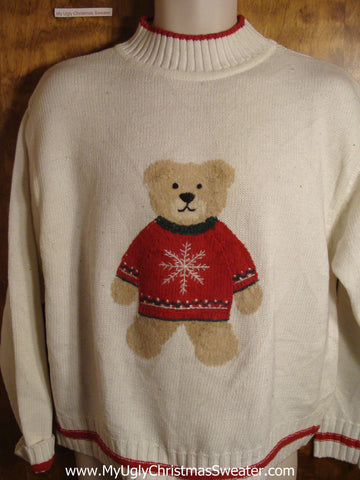 Teddy Bear in Holiday Sweater Tacky Christmas Sweater