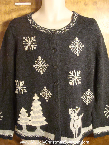 Reindeer Starry Night Tacky Christmas Sweater