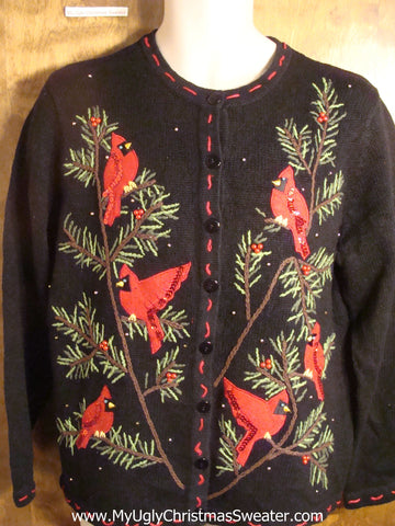Bling Robins Tacky Christmas Sweater