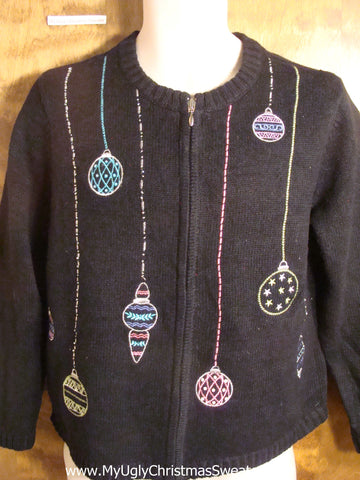 Colorful Ornaments Tacky Christmas Sweater