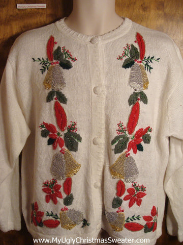 Ringing Bells Tacky Christmas Sweater