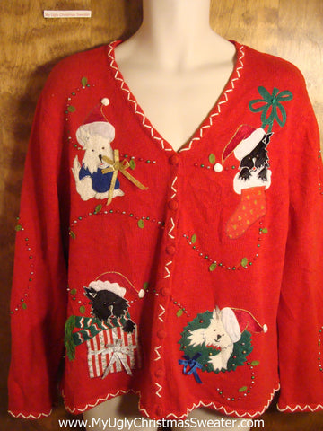 Christmas Cats and Dogs Tacky Christmas Sweater