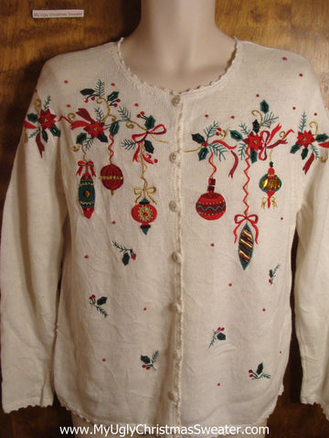 Festive Ornaments Tacky Christmas Sweater