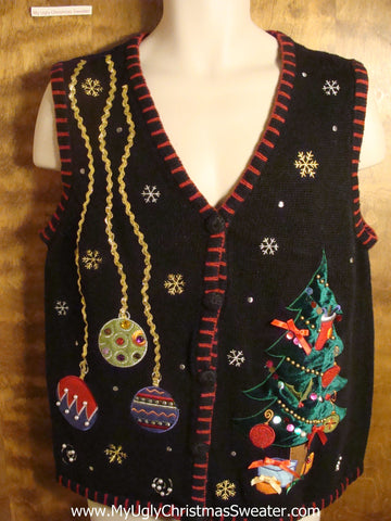 Holiday Decorations Tacky Christmas Sweater Vest