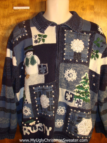 Frosty the Snowman Tacky Christmas Sweater