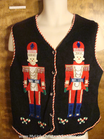 Matching Nutcrackers Tacky Christmas Sweater Vest