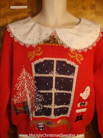 Christmas Eve Santa Tacky Christmas Sweater