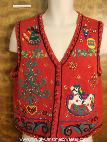 Festive Christmas Eve Tacky Christmas Sweater Vest