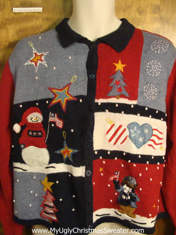 Patriotic Christmas Tacky Christmas Sweater