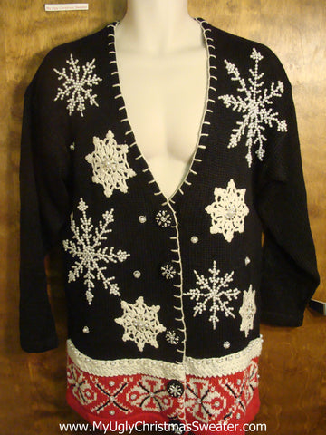 Nordic Snowflake Tacky Christmas Sweater
