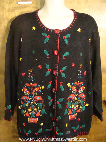 Festive Matching Trees Tacky Christmas Sweater