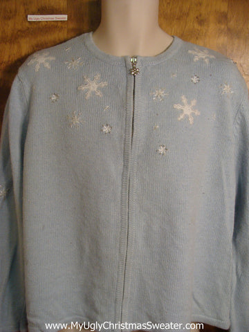 White Snowflakes Tacky Christmas Sweater