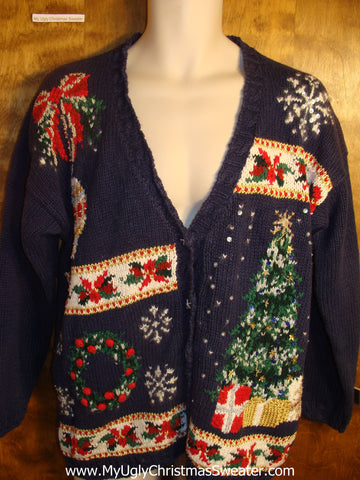 Festive Decorations Tacky Christmas Sweater