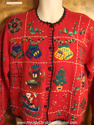 80s Christmas Eve Fun Tacky Christmas Sweater