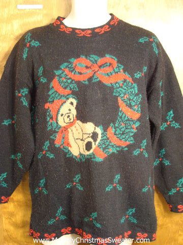 Horrible 80s Wreath Christmas Sweater