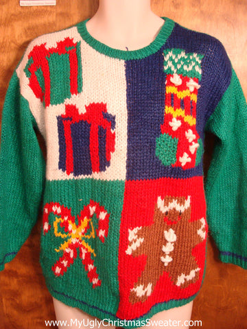 Amazing Retro Colorful Christmas Sweater