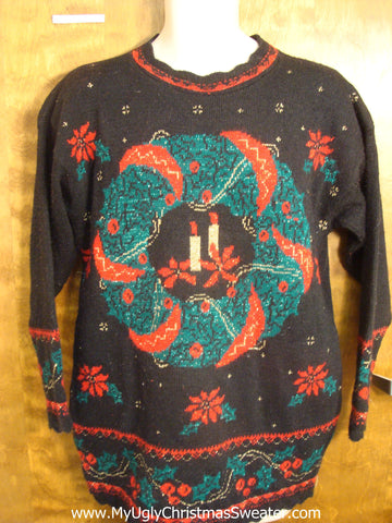 Horrible Ugliest 80s Christmas Sweater