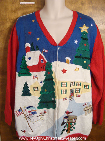 Flying Angel 2sided Christmas Sweater