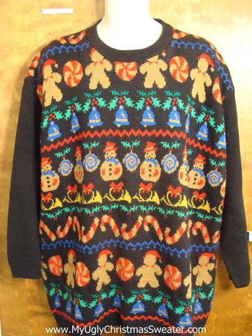 Plus Size Gingerbread Christmas Sweater