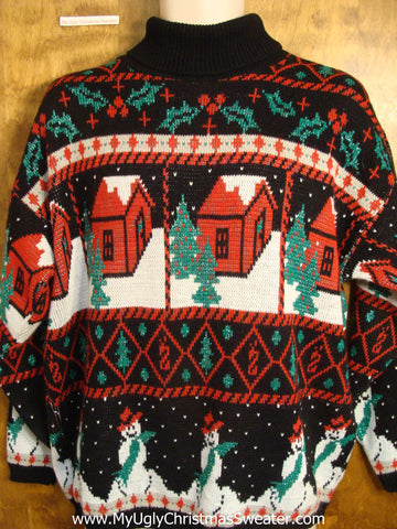 Amazing Snowy Town Christmas Sweater